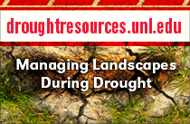 DroughtResources.unl.edu web ad featuring turf